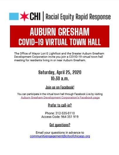 Auburn Gresham COVID-19 Virtual Town Hall